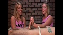 Laughing blondes deny and ruin the orgasm