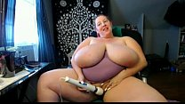 huge titty bbw from DesireBBWs.com plays with toys