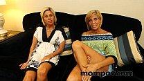 Neef zijn harde pik gaat soepel in tante haar kut tijdens incest trio