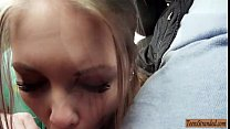 Pretty teen babe Alessandra Jane pounded by pervert guy