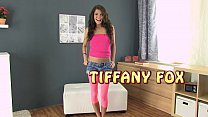 Horny brunette Tiffany Fox uses an anal butt pl...