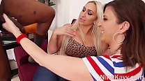 Busty Babe Nina Kayy Sucks & Fucks Big Cock With Sara Jay!