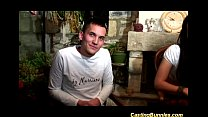cute french teen couples first anal casting vid...