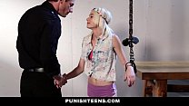 PunishTeens - Skinny Blonde Gets Tied and Chained