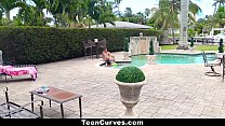 TeenCurves - Curvy Petite Chanel Collins Gets Fucked By The Pool