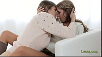 Lesbians in socks licking each other