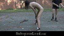 Daily bdsm for skinny servant girl