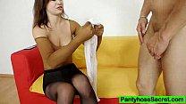Leggy Emma Diamond nylon panty-hose fetish fuck