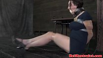 Sub skank learns discipline by maledom