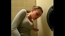 Public toilet masturbation and orgasm