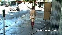 Nude in San Francisco: Alice walks down crowde...