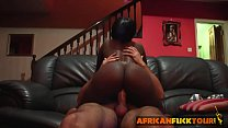 couch on cock white riding into talked chick African