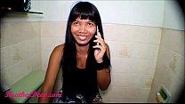 Heather Deep talks to boyfriend on phone while deepthroat Throatpie Creamthroat