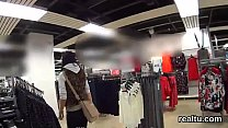 Stellar czech girl is seduced in the shopping centre and drilled in pov