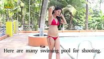 128~~256~~Hot Mumbai Bikini Model Girl Swimming in Pool Romantic Video Sceen By Hugging Hub uuid-582