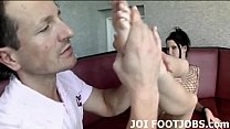 Lube my feet up so I can give you a footjob JOI