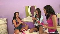 Naughty Lesbian Sleepover With Tia Cyrus, Cassandra Nix & Lola Foxx
