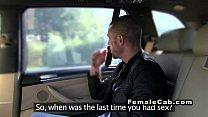 Italian stud bangs female fake taxi driver