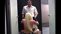 Rocking Blond Lady with Large Twins Ravaged in ...