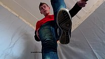 trampling gay jeans fetish spit sneakers shoes hd720