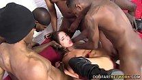 Black Cock Slut Giselle Leon Gets Gangbanged