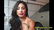 Hot Latina showing body & smoking on cam - fatb...