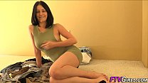 Amateur tracy rubs pussy