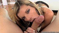 Porn star Kristal Summers drinks her oral creampie