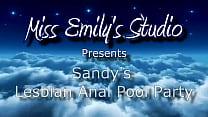 Sandy's Lesbian Anal Pool Party