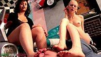 Arrives Elisa - Foot Smother 2 Girls vs 1 Slave