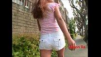 Teen Slut With Great Legs Walks Around Searchin...
