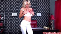 Euro Blonde Puma Swede Gets off with Bejeweled ...