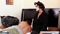 Busty brunette in stockings Jessica Jaymes gets...