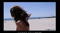 Bikini-clad Alisha Adams teases her big natural...