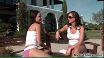 Two lesbian babes getting druunk before