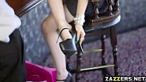 Danny D feeds spoiled Alessa Savage his big thi...