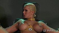 BDSM XXX Master straps big tits submissive girl...