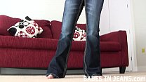 Jerk your cock to my tight blue jeans JOI