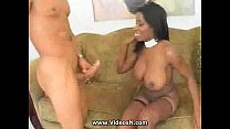 Black Netted Busty Knows what she Does