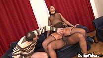 White wife takes black cock anal