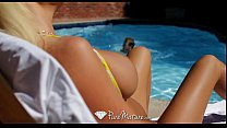 HD - PureMature Busty Summer Brielle blasted by dick by the pool