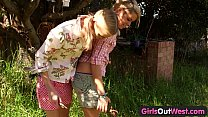 Girls Out West - Skinny blonde lesbians in the ...