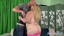 man a catch to tits huge her uses juggs sasha plumper blonde Hot