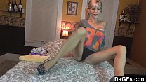 Super exhibitionist milf does it all