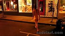 Nude in San Francisco: Short clip of girl walki...