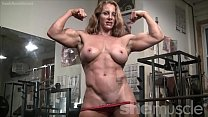 muscle headed red sexy bodybuilder female Naked