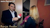 Maurizia Paradiso accoglie nuda Andrea Diprè nella sua casa di Milano