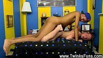 Gay orgy Hung youngster Andrew and spectacular dude noob Billy are