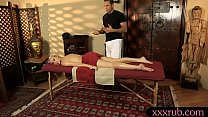 Sexy blond client Cadence Lux gets pounded by her masseur