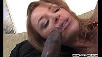Mom Janet Mason takes two big black cocks